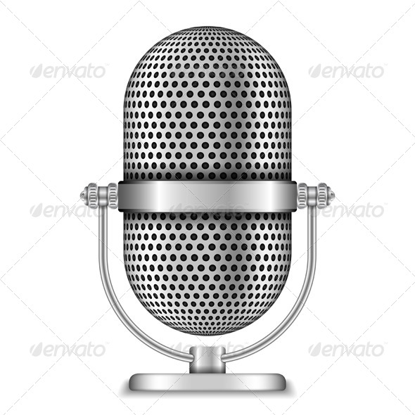 Retro Microphone - Objects Vectors