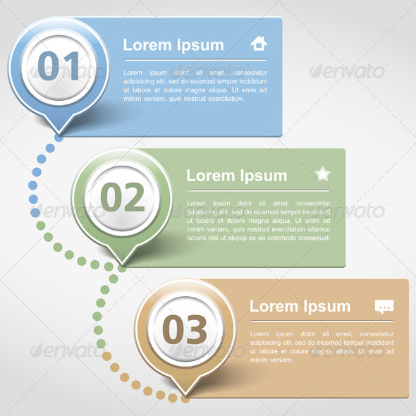 Design Template with Three Banners - Miscellaneous Vectors