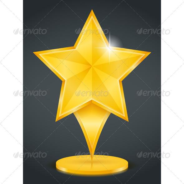 Golden Star - Objects Vectors