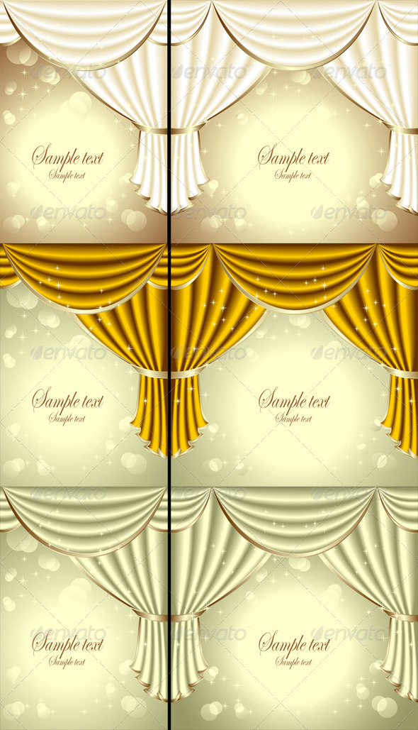 Background with Drapes - Backgrounds Decorative