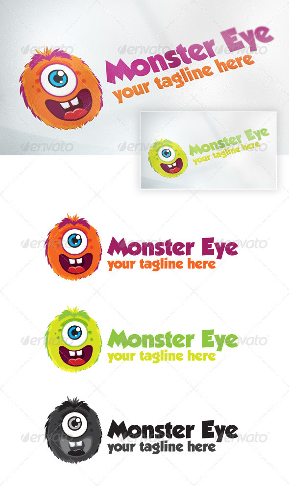 monster eye - Animals Logo Templates