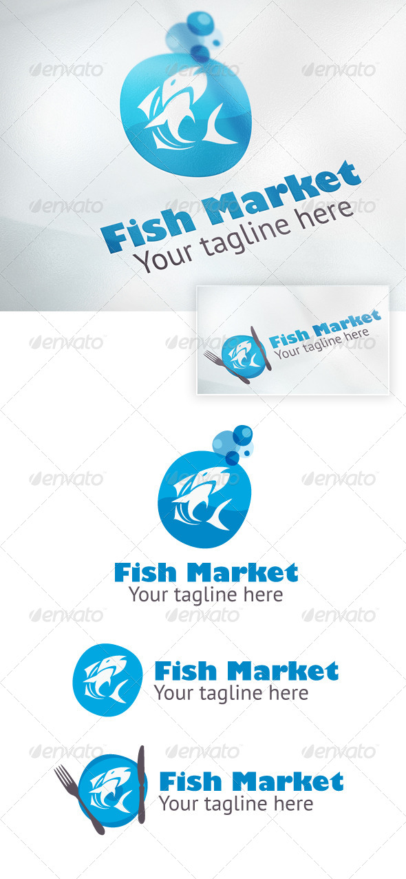 Fish market - Food Logo Templates