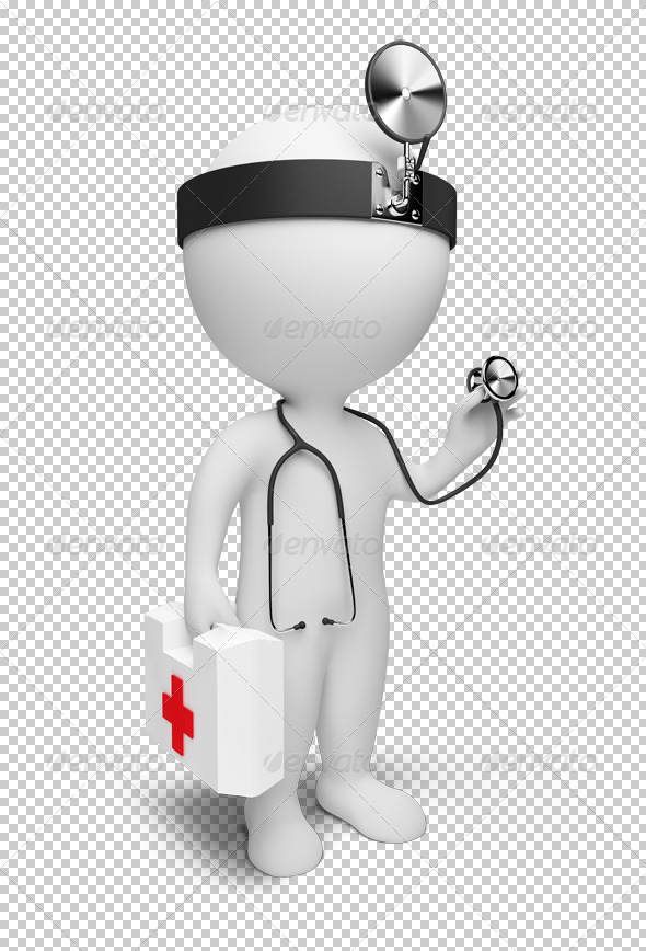 3d small people - doctor - Characters 3D Renders