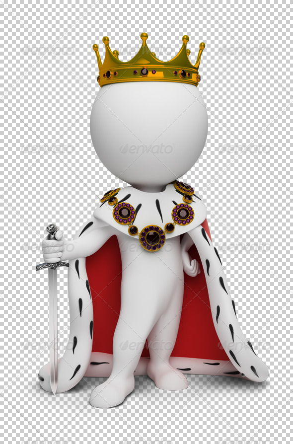 3d small people - king - Characters 3D Renders