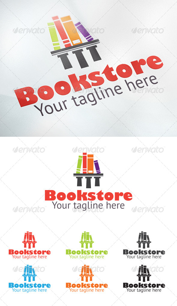 Bookstore - Objects Logo Templates