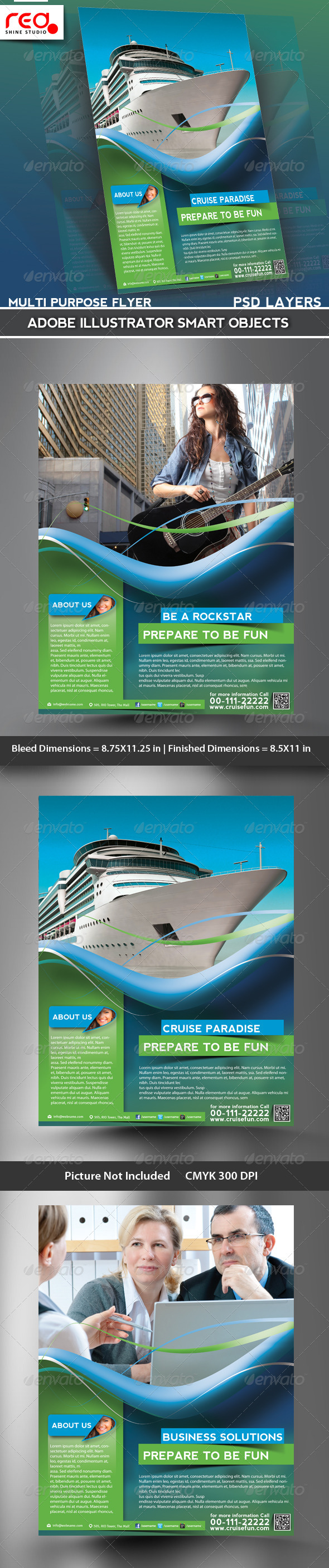 Business Promotion Flyer/Poster & Magazine Template - Corporate Flyers