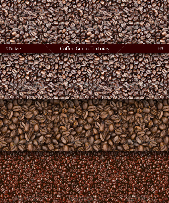 Coffee Grains Texture Backgrounds - Nature Textures