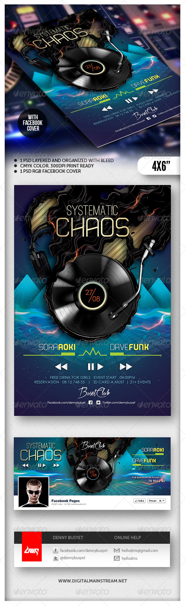 Systematic Chaos Nightclub Flyer Template - Events Flyers
