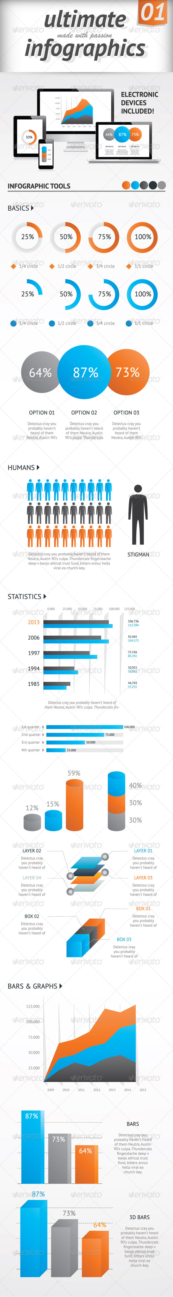 Ultimate Infographics Elements Set Vector - Infographics