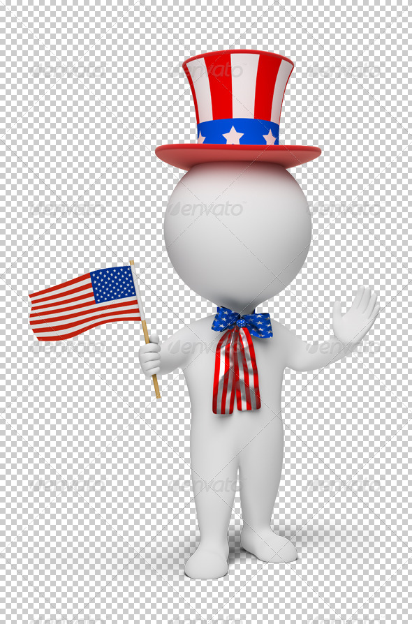 3d small people - Independence Day - Characters 3D Renders