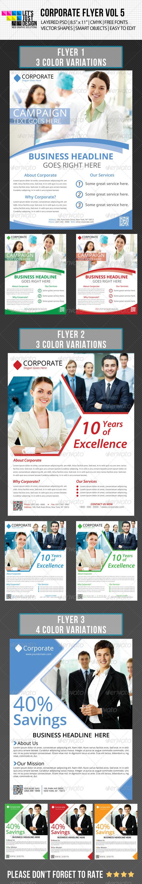 Multipurpose Corporate Flyer Bundle Vol 1 - Corporate Flyers