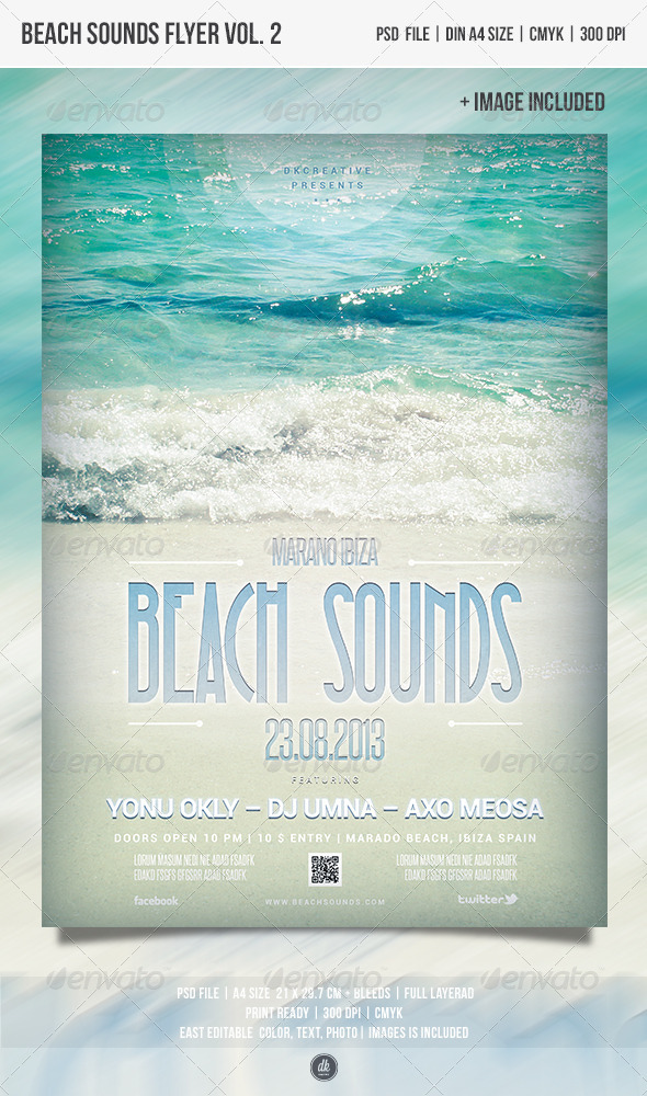 Beach Sounds Flyer Vol.2 - Clubs & Parties Events