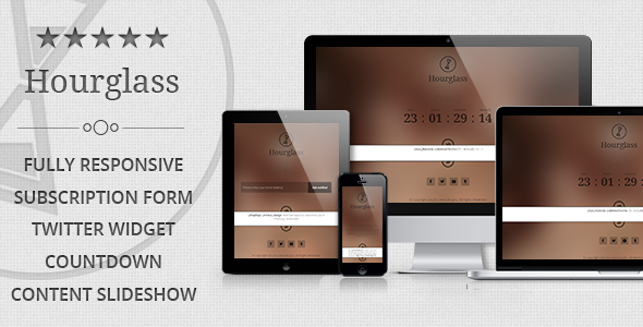 Hourglass – Responsive Coming Soon Page