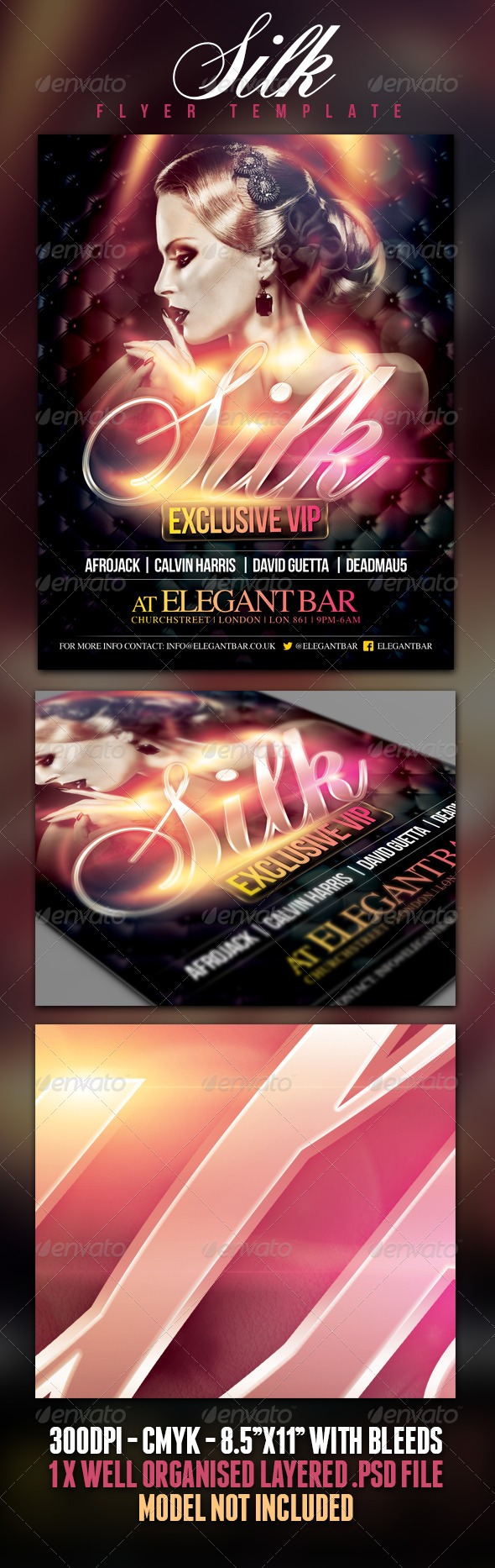 Silk Poster/Flyer Template - Clubs & Parties Events
