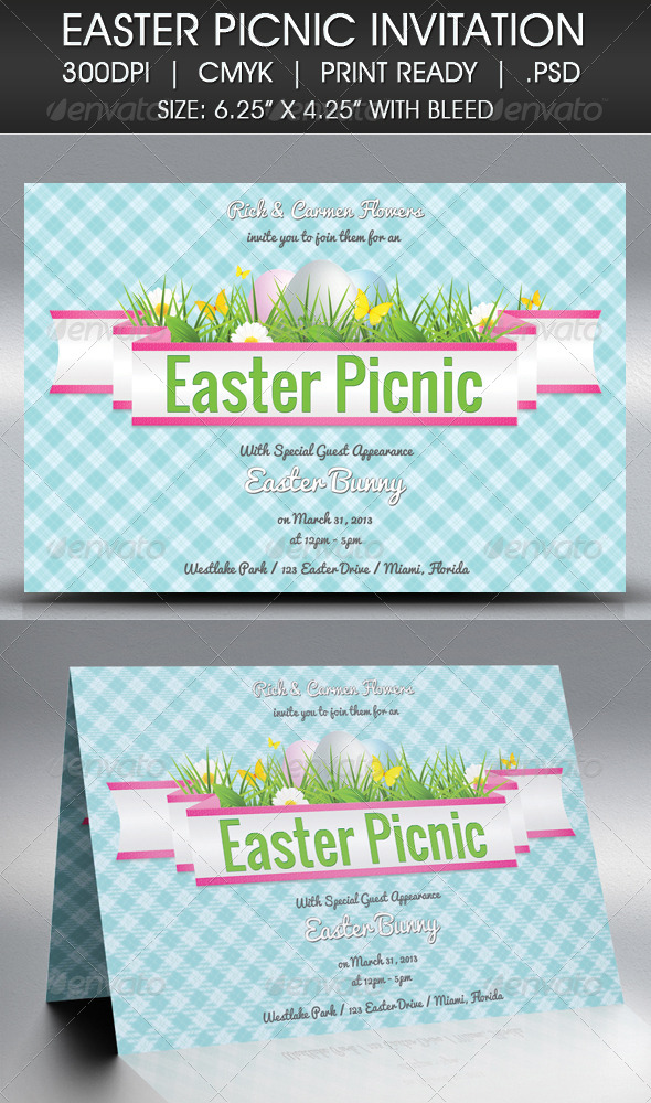 Easter Picnic Invitation - Invitations Cards & Invites