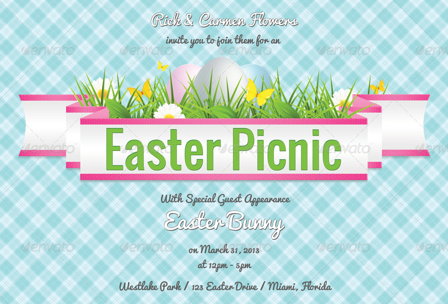 Easter Picnic Invitation – Merry Christmas And Happy New Year 2018