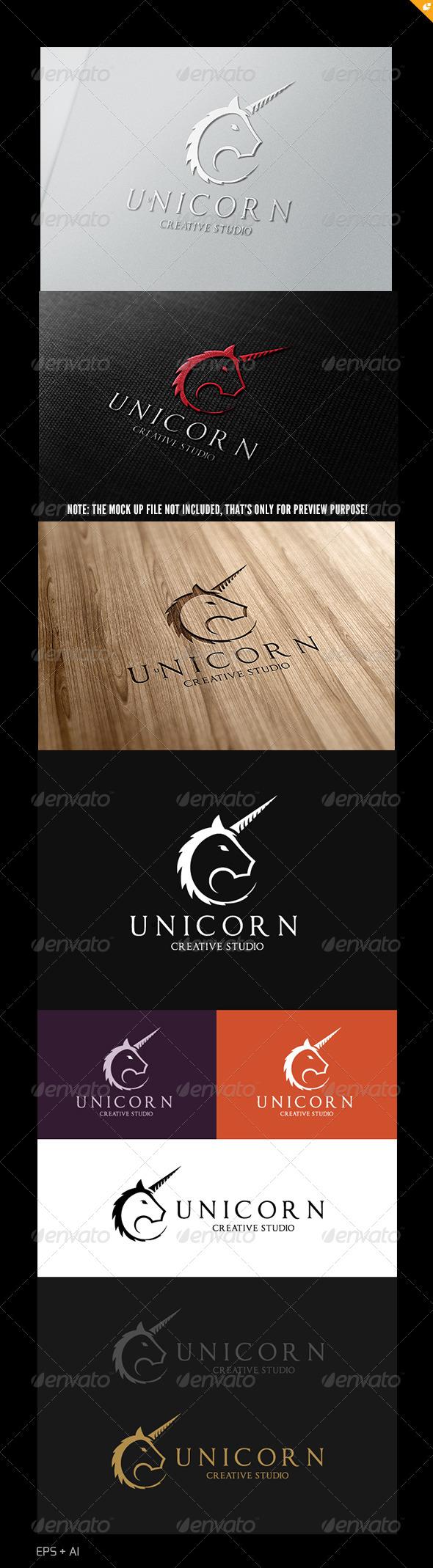 Unicorn Creative Studio Logo - Crests Logo Templates