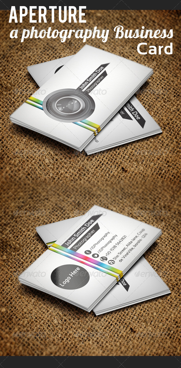 Aperture- A Photography Business Card - Corporate Business Cards
