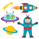 Space Elements Vector Set  - GraphicRiver Item for Sale