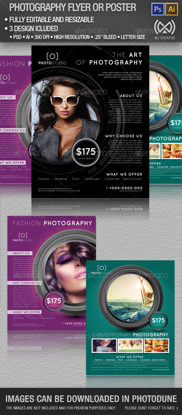 Photography Flyer and Poster Set - Miscellaneous Events