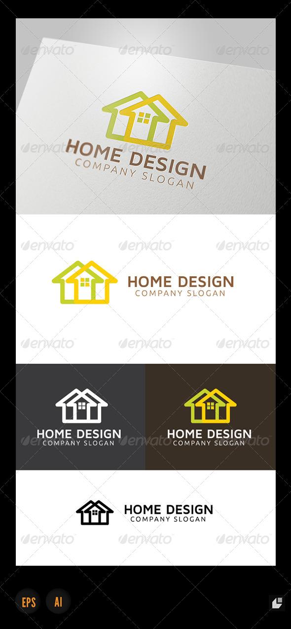 Home Design Logo - Buildings Logo Templates