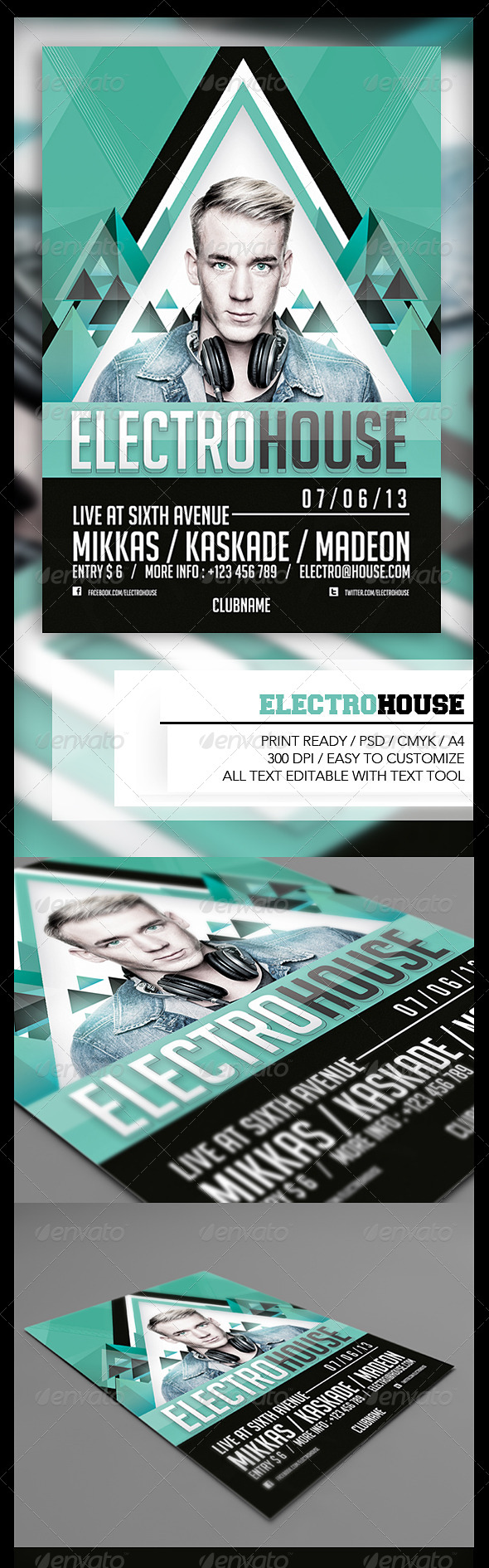 Electro House Flyer  - Events Flyers