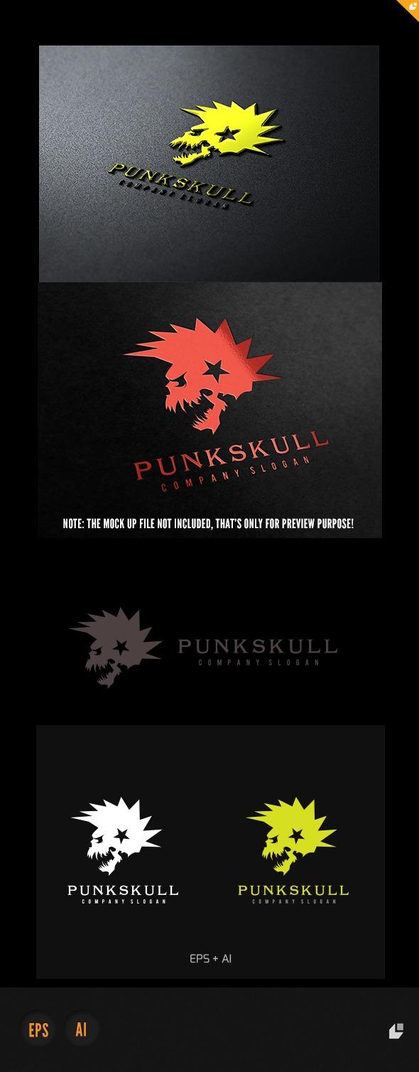 Punk Skull Logo - Humans Logo Templates