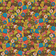 Vintage Floral Seamless Pattern with Humming Bird - GraphicRiver Item for Sale