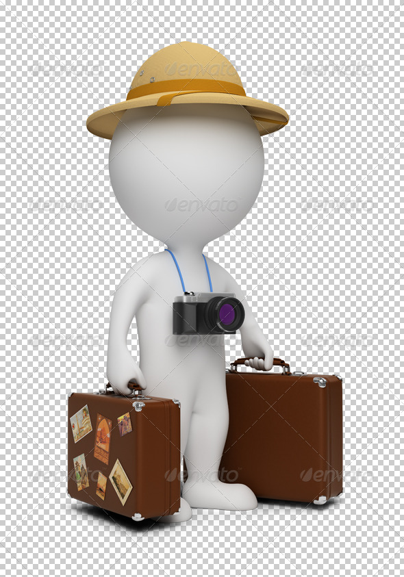 3d small people - tourist - Characters 3D Renders