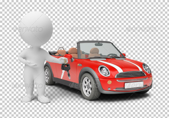 3d small people - car keys - Characters 3D Renders