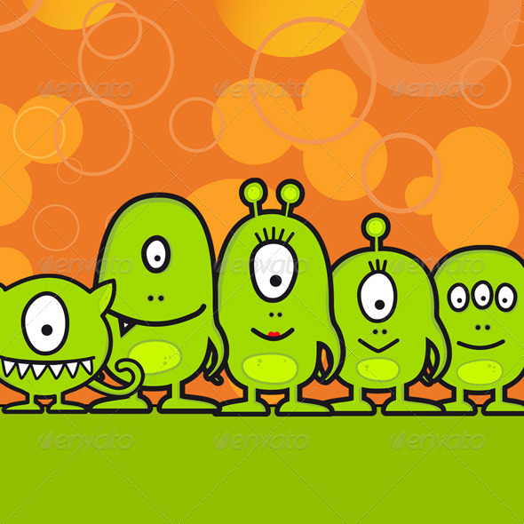 Funny Monster Family - Monsters Characters