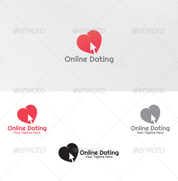 Online Dating - Logo Template by martinjamez | GraphicRiver