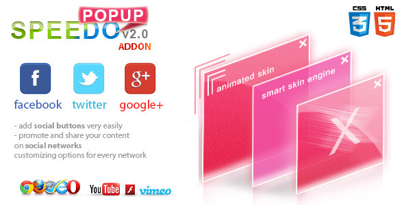Social Addon for Speedo Popup - CodeCanyon Item for Sale