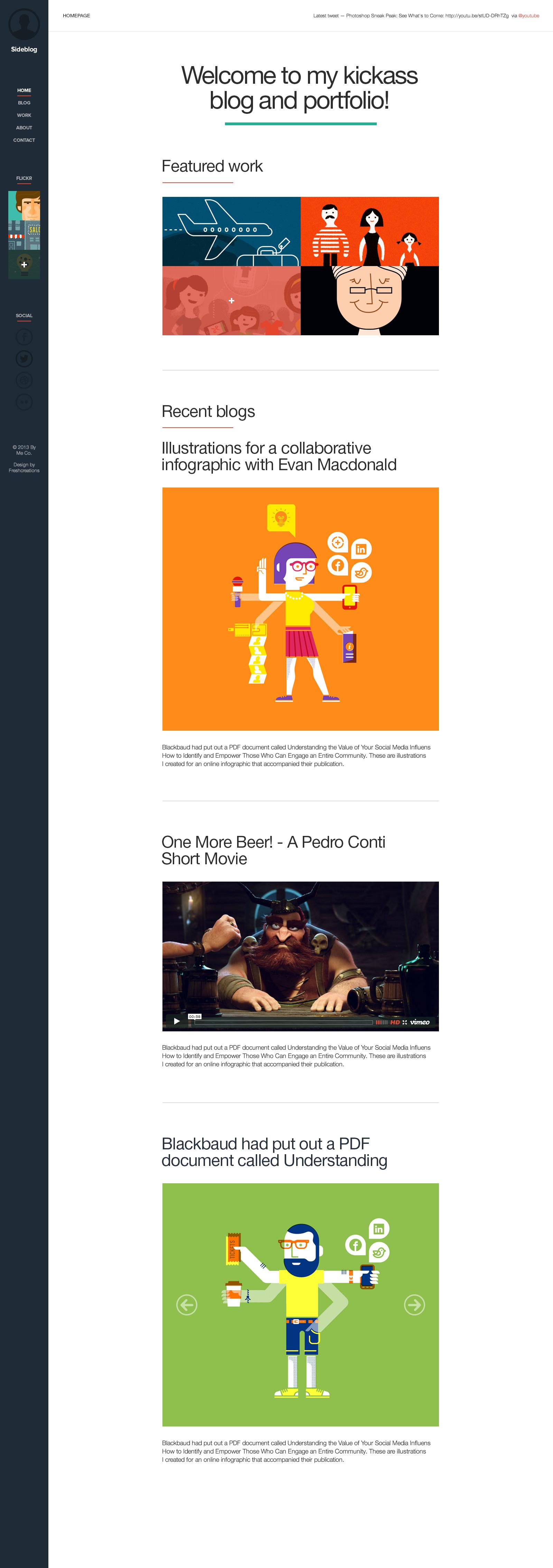 Sideblog A Modern Responsive Blog Amp Portfolio By