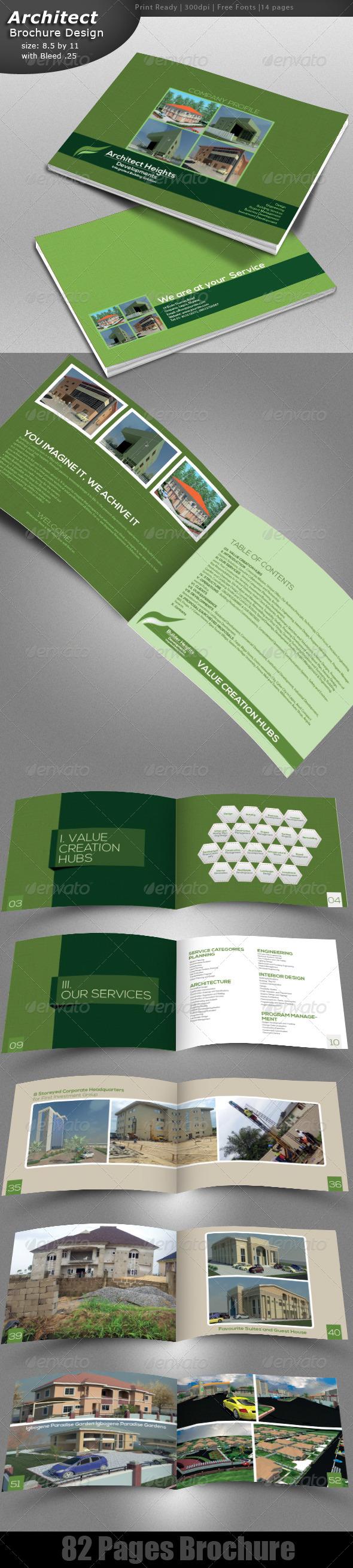 Architecture Brochure Design   - Brochures Print Templates