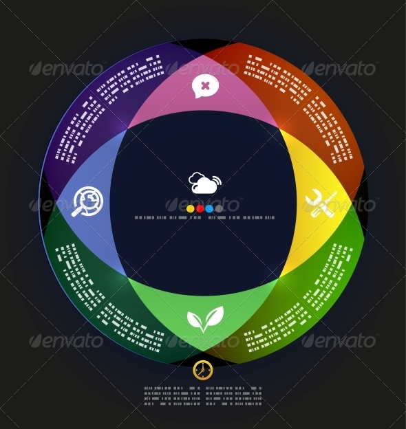 Modern Circle Infographic Minimal Design Template - Miscellaneous Vectors