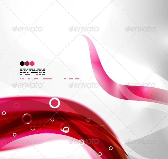 Red Abstract Wave Background - Web Technology