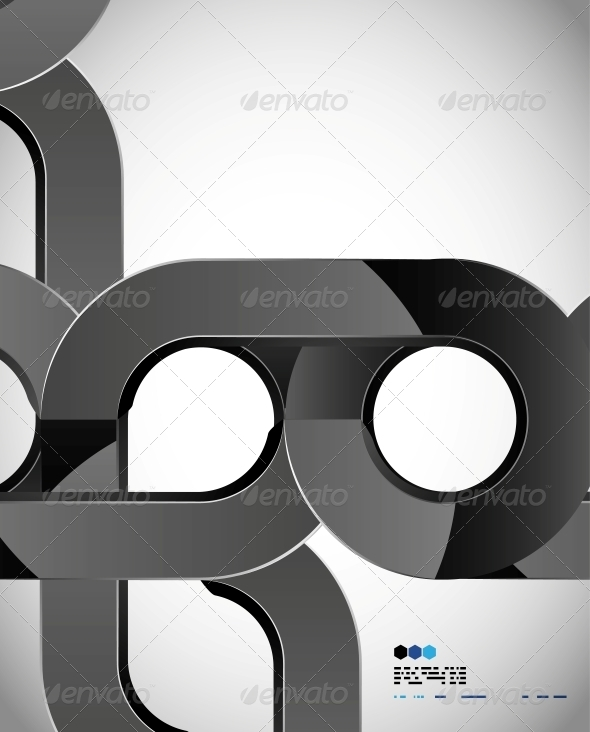 Aabstract Swirl Techno Shape Design - Miscellaneous Conceptual