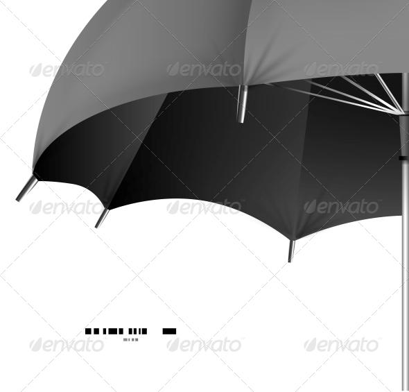 Vector Umbrella Protection Concept - Web Technology