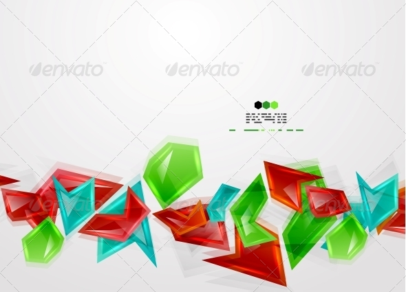 Colorful Glass Pieces - Web Technology