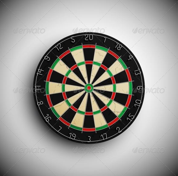 Darts Board - Sports/Activity Conceptual