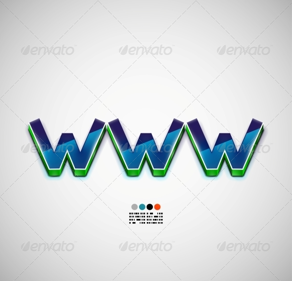 WWW Internet Vector Background - Backgrounds Decorative