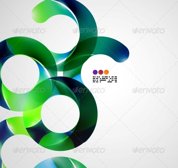 Colorful Abstract Swirl Background - Miscellaneous Conceptual