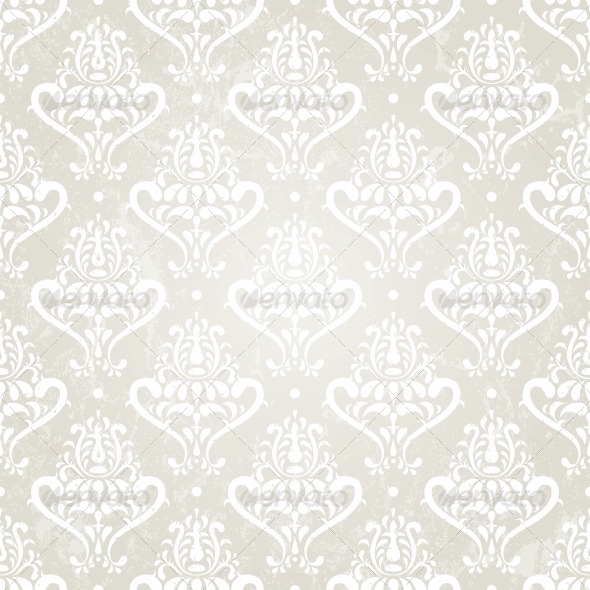 Silver Vintage Wallpaper - Patterns Decorative