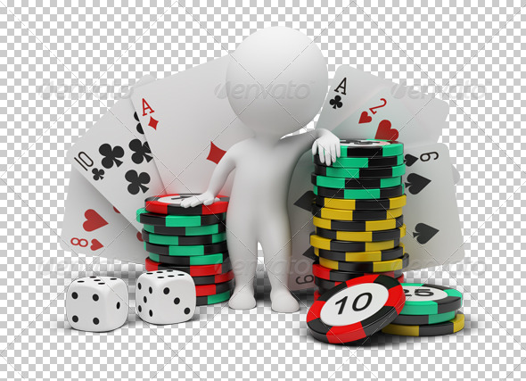 3d small people - casino - Characters 3D Renders