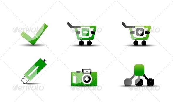 Modern Green Web Vector - Web Technology