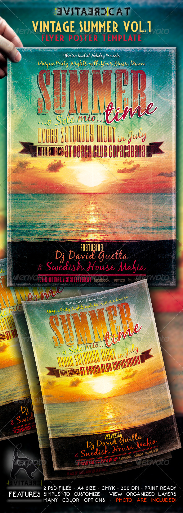 Vintage Summer Flyer/Poster VOL.1 - Events Flyers