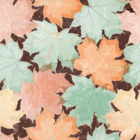Maple Leaves Seamless Wallpaper - Patterns Decorative