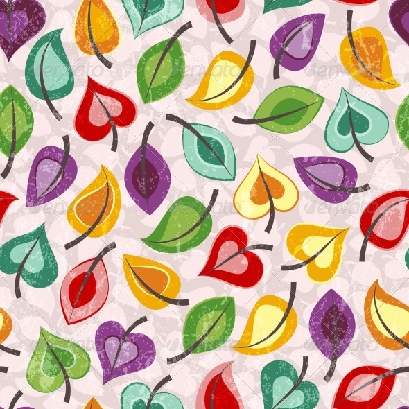 Seamless Leaves Wallpaper - Patterns Decorative