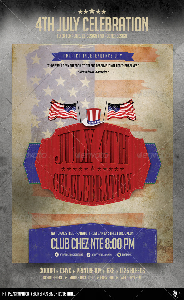 4th of July Flyer Template - Events Flyers